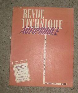 RTA revue technique automobile n°164 decembre 1959  camion unic