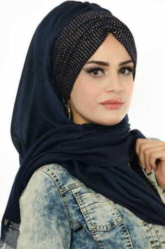 Bd514 velo finito Hazir Burgu BANDANA türban Sal tesettür Hijab Khimar