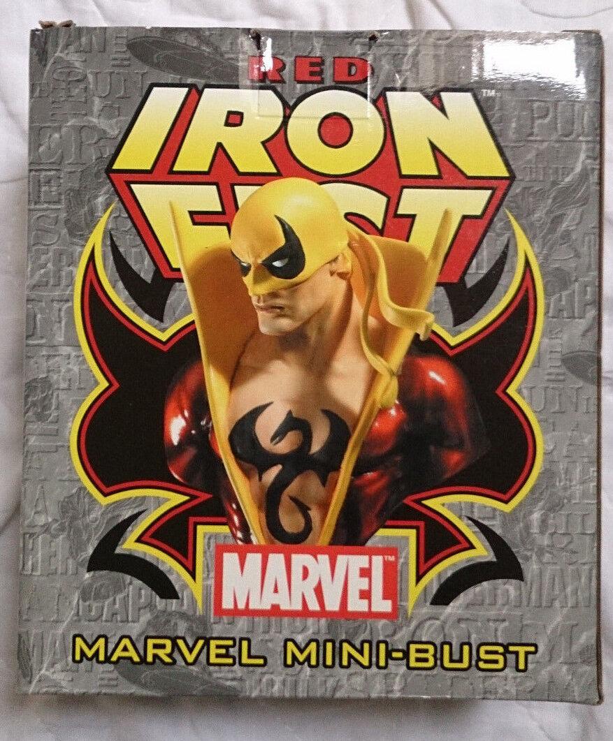 Marvel Comics Bowen Defenders rojo puño de hierro mini - semi - retrato   estatua con caja vgc rara