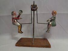 Antique Gibbs Kids Teeter Totter Perpetual Motion Tin Toy circa 1900-1910