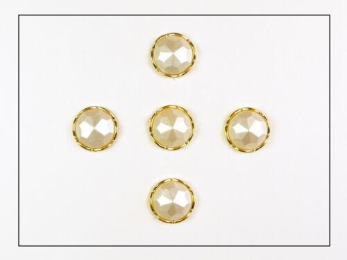 "Perle 32/"" gold Set 20mm Ösenknöpfe 5er"