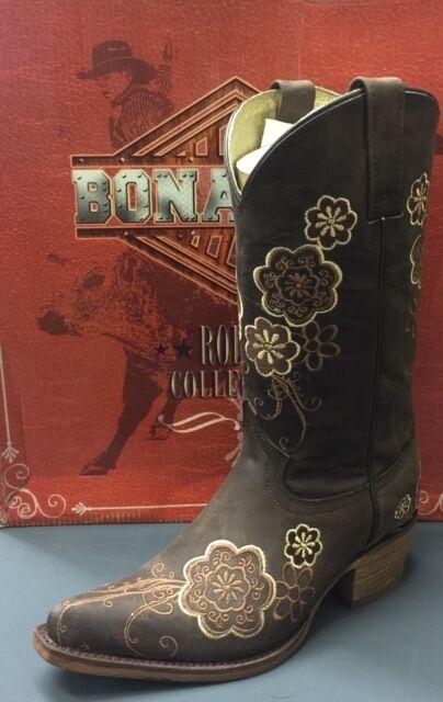 nuovo sadico Donna  Redhawk Bonanza Western stivali Leather Leather Leather with Embroidery Snip Toe 36103  il più recente