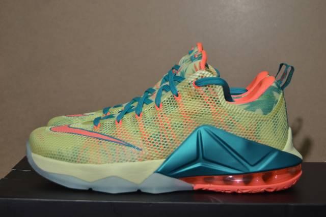 Nike LeBron XII 12 Low Lebronald Palmer Arnold 776652-383 Lime Bright Mango Sz 8