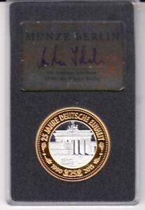 Av Vd Medaille 25 Jahre Deutsche Einheit Münze Berlin Mit 999