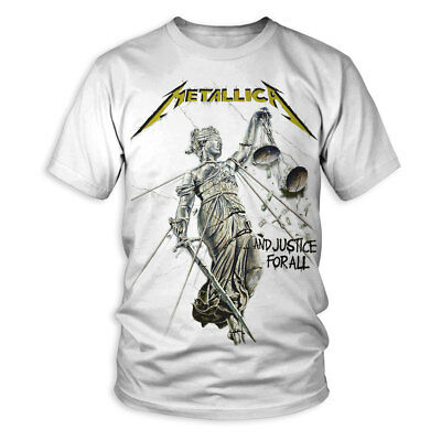 Metallica And Justice For All Distressed White Zip Up Sweatshirt Hoodie New   eBay