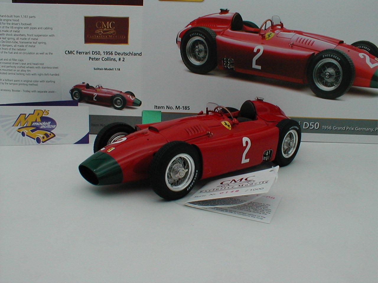 CMC m-185 - Ferrari d50 No. 2 GERMANY GP 1956  PETER COLLINS  1 18 NOUVEAUTÉ