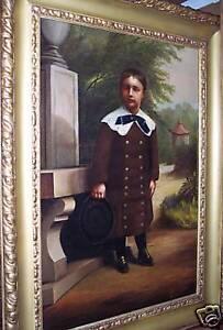 Unknown-Artist-Original-Oil-on-Canvas-of-Child-1888