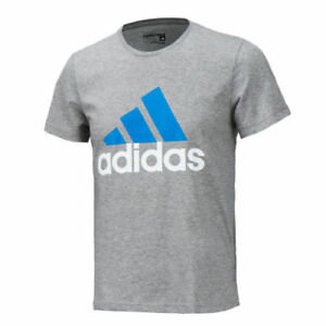 Top Grey Mens Adidas Performance Logo T-Shirt New