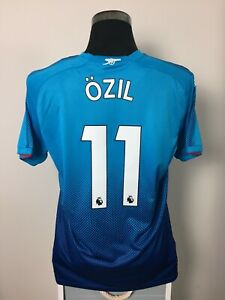 new product 09907 1ac9a Details about OZIL #11 BNWT Arsenal Away Football Shirt Jersey 2017/18 (L)
