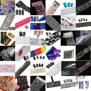 Transfer-Foil-For-Nail-Art-Decoration-Flowers-Holo-Lace-Butterfly-UK-Seller