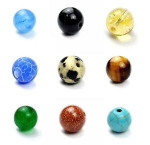 Semi-Precious-Gemstone-Crystal-Mineral-Round-Bead-Healing-Chakra-Cleaning-Stone