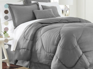 6-Piece-Set-Chevron-Embossed-Comforter-Set-8-Colors