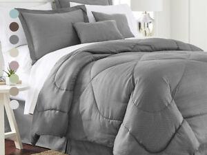 6-Piece-Set-Chevron-Embossed-Comforter-Set-8-Colors