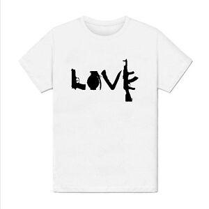 France Amour Armes Détails T Love Paix Shirt Homme Guerre Sur De Paris Message sdthrQC