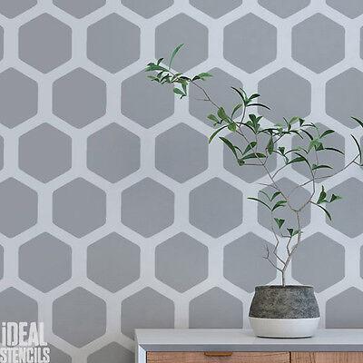 Stencil Home Decorating Craft Honeycomb Pattern Wall Painting Ideal Stencils Ltd Ebay