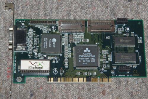 Elephant Alliance Semiconductor ProMotion 6410 JYBPCI3210D 1MB PCI VGA card WORK