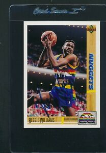 1991/92 Upper Deck #206 Reggie Williams Nuggets Signed Auto *A5412