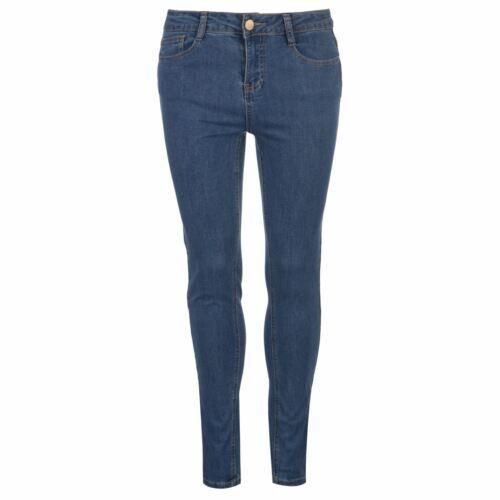 Golddigga Stretch Jeans Ladies Skinny Pants Trousers Bottoms Zip Slim Fit Denim