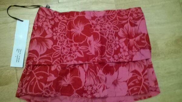 Ladies Short Mini Lipstick Red Cotton Summer Skirt Size 8 10 By Naughty Designer