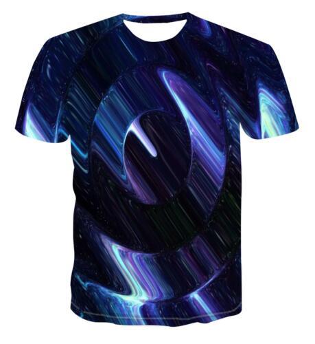 18 Styles 3D Neuf Imprimé Personnalisé Horloge Géométrie T-Shirt Fashion Street Style