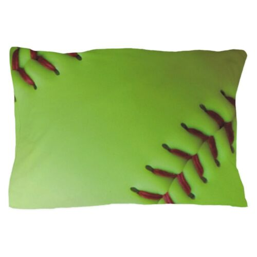 1159046139 CafePress Optic Yellow Fastpitch Softball Pillow Case