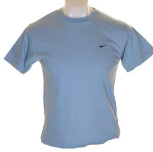 Bnwt Men/'s Boy/'s Nike Cotton T Shirt Blue Crew Neck New S M L XL