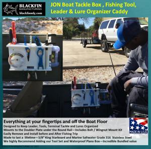 Jon Barco Tackle Box y pesca portaherramientas líder organizador Caddy