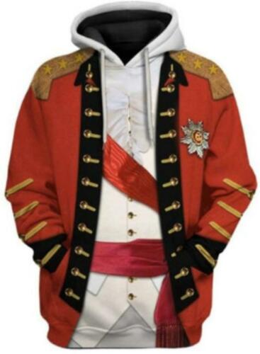 Men Women Historical Army Uniforms Hoodie Cosplay Sweatshirt Halloween Costume