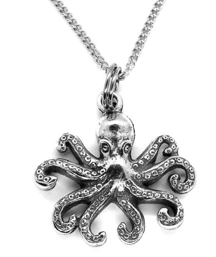 Little Octopus Pendant Necklace with Fine steel chain