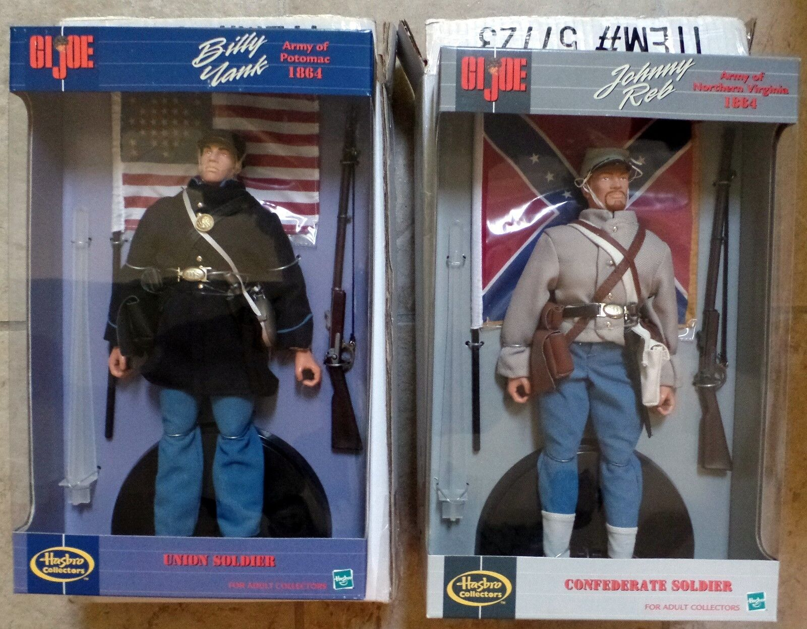 GI Joe Mail-Away 1864 Billy Yank Union & Johnny Reb Confederate Soldiers Hasbro