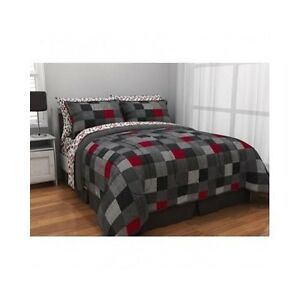 Minecraft Style Bedding Twin Xl Reversible Comforter Red