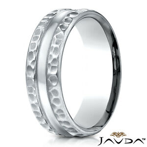 Bridal & Wedding Party Jewelry Titanium Grooved Beaded Edge 4mm Wedding Ring Band Size 5.50 Classic Milgrain