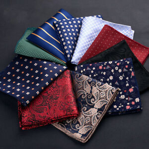 Paisley Floral Pocket square Chest Towel Men handkerchief Hankies embroidery