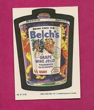 RARE OPC 1989 WACKY PACKAGES BELCHS  NRMT-MT CARD (INV#6421)
