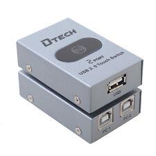 2 Port USB Printer Sharing Switch Hub Switcher Box V2.0 2 PC Share 1 USB Device