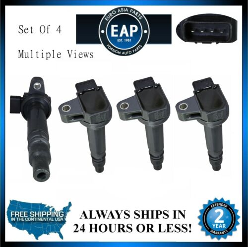 For 1999-2000 4Runner 1999-2004 Tacoma 2.4L 2.7L Set of 4 Ignition Coil New