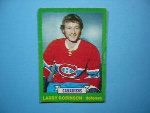 1973-74-O-PEE-CHEE-NHL-HOCKEY-CARD-237-LARRY-ROBINSON-ROOKIE-VG-73-74-OPC