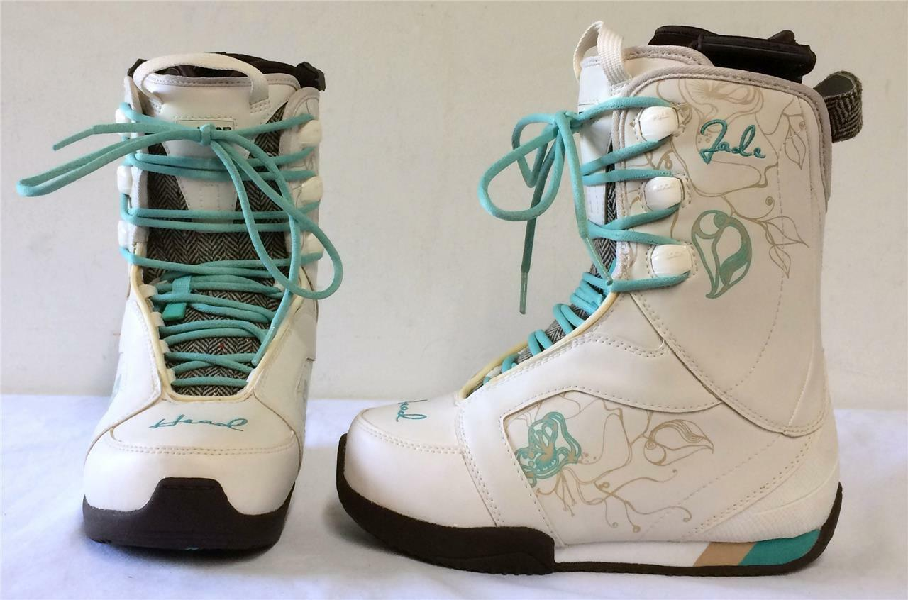 Head Jade White Womens Snowboard Boots White 5.5 NEW