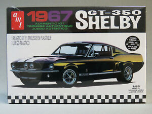 AMT-1967-SHELBY-GT-350-MODEL-RACE-CAR-KIT-plastic-1-25-Scale-Mustang-AMT834-NEW