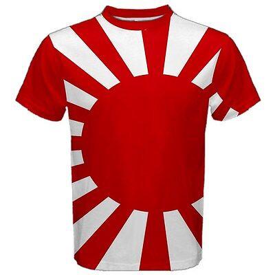 Mejor nuevo bandera japonesa Samurai Sublimada Para Mujer Crop Top T-Shirt Tamaño XS-3XL