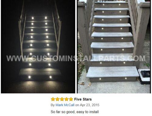 Single Recessed LED Landscape Deck Light Lighting Outdoor Path Step Stair Garden