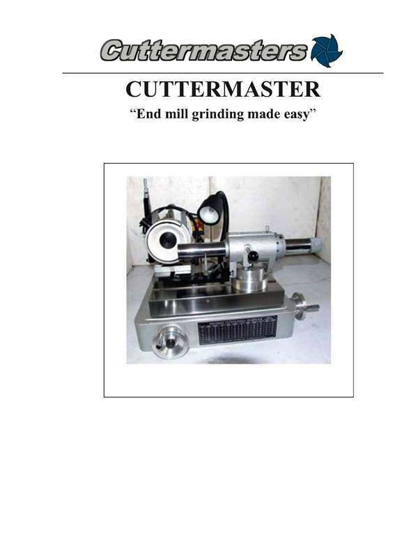 Cuttermaster PC-101 Grinding Instructions