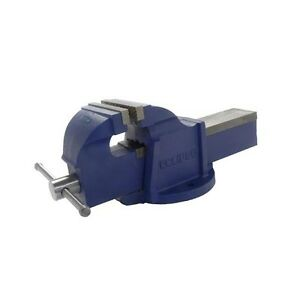 """4/"""" Silverline Bench Vice Workshop Clamp Engineers /& Soft Vice Jaws Rubber Grip"""