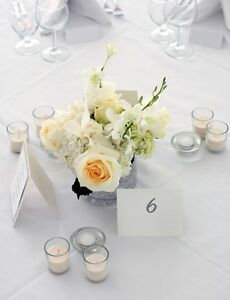 Set of 24 Clear Glass Votive Holders + 24 Votive Candles (Choose From 10 Colors)