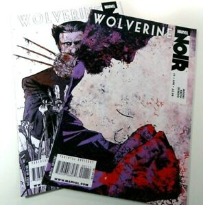 MARVEL-Comics-WOLVERINE-NOIR-2009-1-2-VARIANT-Covers-VF-NM-Ships-FREE