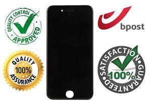 IPHONE 7 SCHERM ECRAN SCREEN -ZWART NOIR BLACK -NEW NOUVEAU NIEUW +FREE ADHESIVE