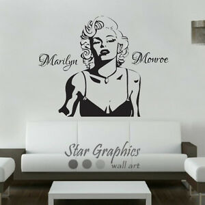 Image Is Loading Marilyn Monroe Wall Art Vinyl Transfer Sticker Decal