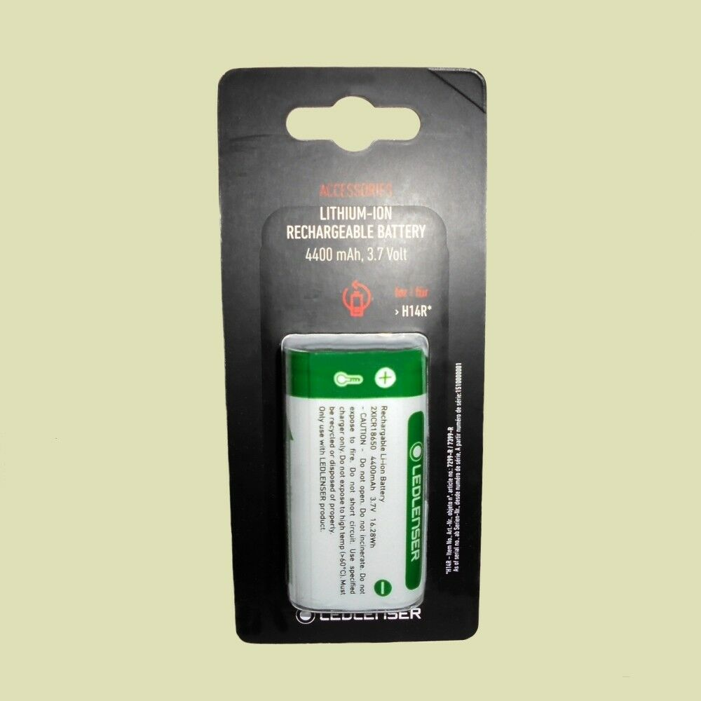 Led Lenser® Akku für Stirnlampe H14R.2 4400mAh 3,7Volt - neue Version  | Deutsche Outlets
