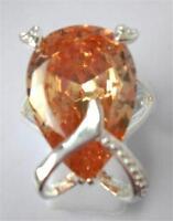 Gorgeous Champayne Topaz Ring Uk Size p Us 8
