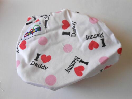 Babywindel rosa Mädchen Baby  I love Mammy Schwimmwindel Softcover Waschbar NEU